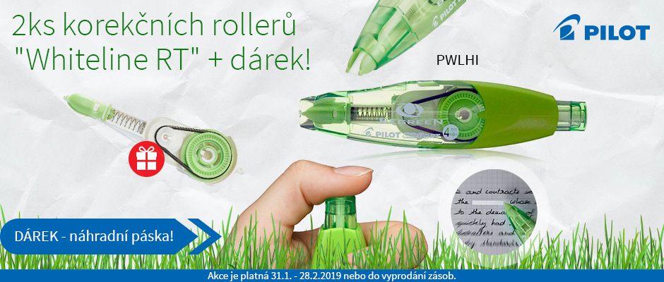 "Korekční roller ""Whiteline RT"", BeGreen, 4 mm x 6 m, PILOT"