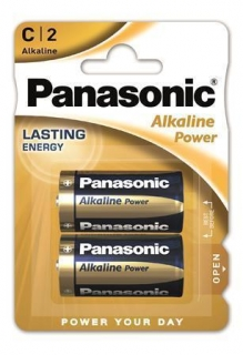 "Baterie ""Alkaline power"", C 2 ks, PANASONIC"