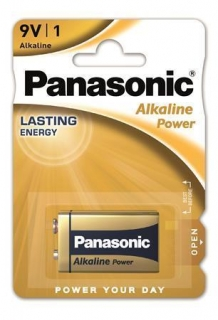 "Baterie ""Alkaline power"", 9V, 1 ks, PANASONIC"