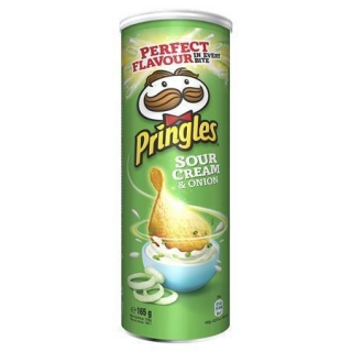 Chips, 165 g, PRINGLES, sour cream-onion