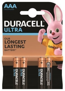 "Baterie ""Ultra Power"", AAA, 4 ks, DURACELL"