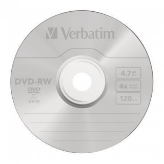DVD-RW, 4,7GB, 4x, Verbatim, jewel box