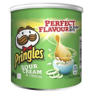 Chips, 40 g, PRINGLES, sour cream-onion