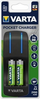 "Battery charger, AA/AAA, 4x2100 mAh AA, VARTA ""Pocket"""