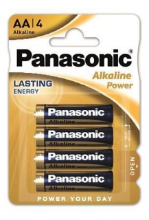 "Baterie ""Alkaline power"", AA 4 ks, PANASONIC"