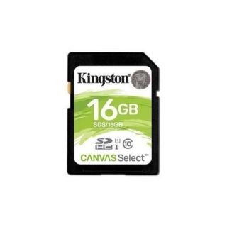 "Paměťová karta SDHC ""Canvas Select"", 16GB, Class 10/U1, 80/10 MB/s, KINGSTON"