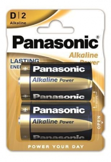 "Baterie ""Alkaline power"", D 2 ks, PANASONIC"