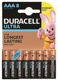 "Baterie ""Ultra Power"", AAA, 8 ks, DURACELL"