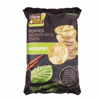 Rýžové chipsy, wasabi, 60 g, RICE UP