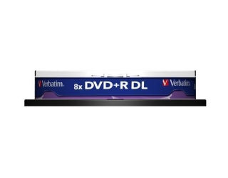 DVD+R DL, 8,5GB, 8x, Verbatim, Double Layer, 10-cake