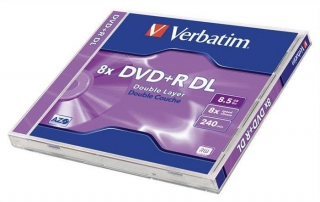 DVD+R DL, 8,5GB, 8x, Verbatim, Double Layer, jewel box