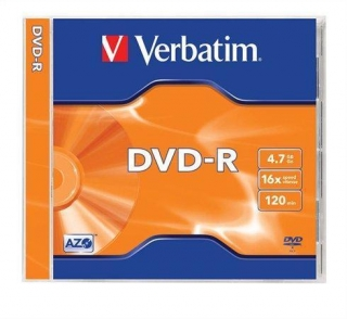 DVD-R 4,7GB, 16x, AZO, Verbatim, jewel box