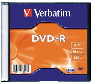 DVD-R 4,7GB, 16x, AZO, Verbatim, slim box