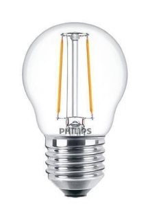 "LED žárovka, mini koule, ""Classic Filament"",  E27, P45, 2W, 250lm, 2700K, PHILIPS"