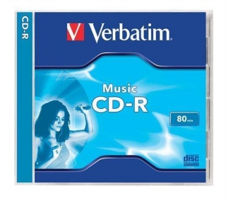 "CD-R Audio 700MB, 16x, Verbatim ""Live it!"", jewel box"